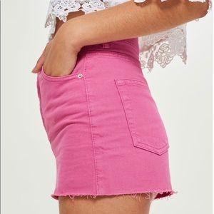 Topshop Women Short Pink High-Waist Short Size 6.